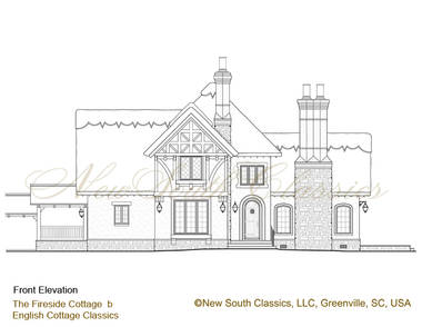 New south classics fireside cottage for Thatched house plans