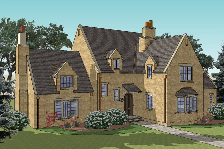New south classics little gables new for Cotswold cottage house plans
