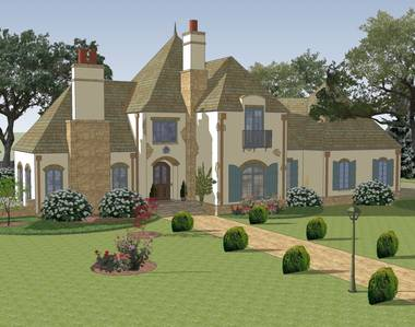 Maison de Ville 3 French Country House Plan