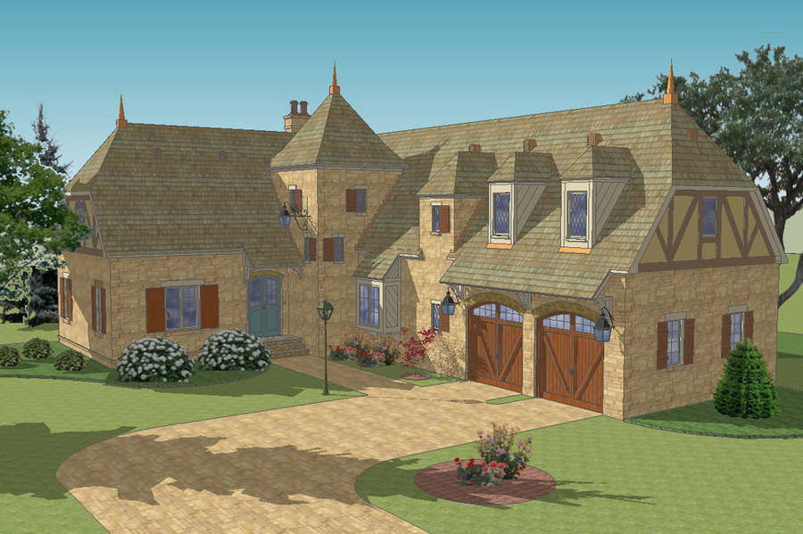 New south classics la metairie 2a for French country garage plans