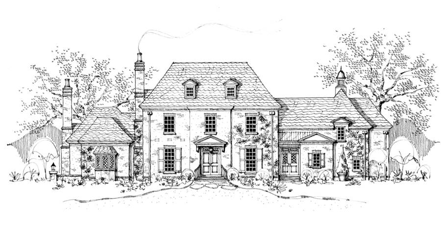 New south classics cotswold manor for English country manor house plans