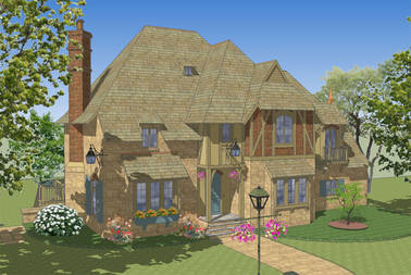 Le Moulin Neuf French Country House Plan