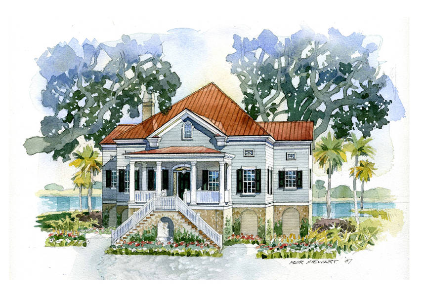 New south classics the seabrook 2 for Country living magazine house plans