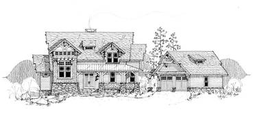 The Mountain Laurel Mountain House Plan by New South Classics