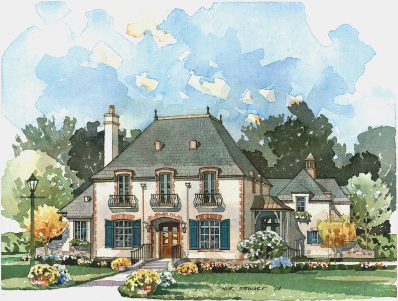 New south classics la maison sur loire for French country cottage plans