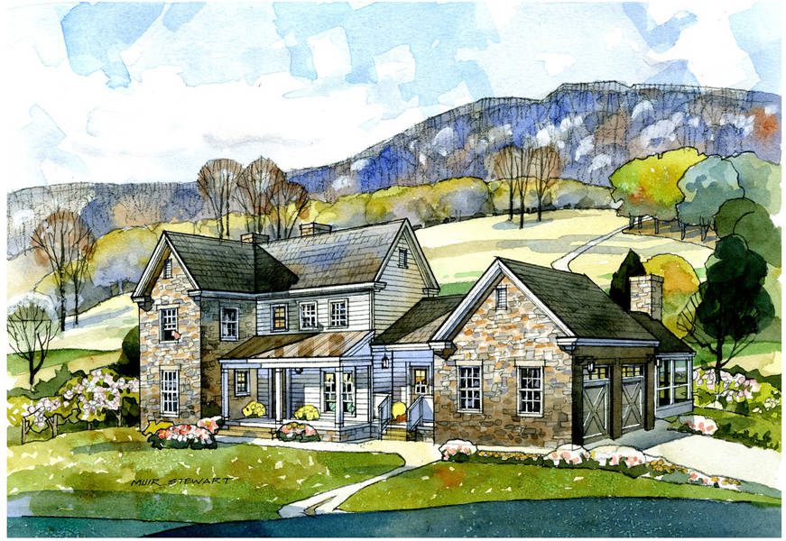valley view farmhouse - Classic Farmhouse Plans