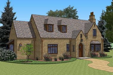 New south classics cottage 1 800 2 999 sf for Cotswold cottage house plans