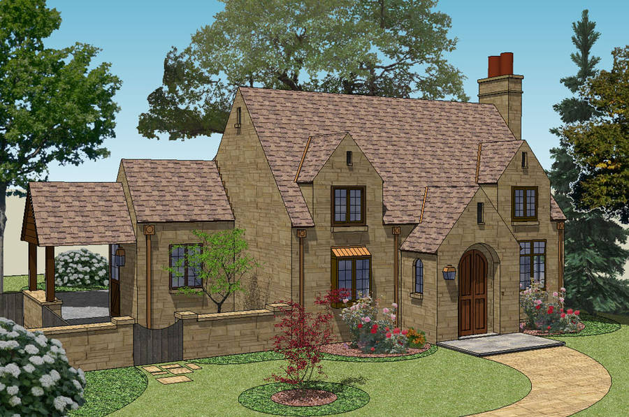 New south classics cottage classics new for English cottage house plans