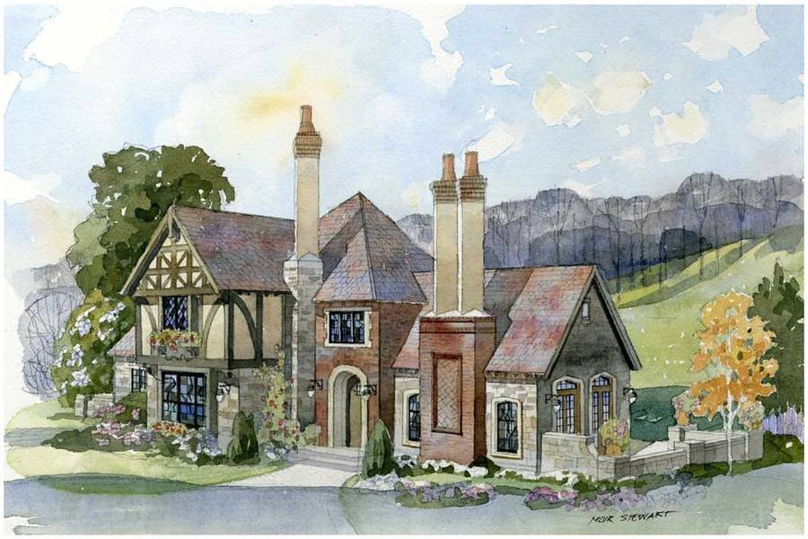 New south classics fireside cottage 2 for English cottage house designs