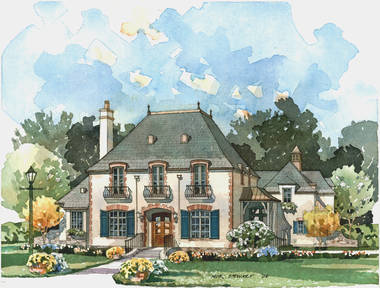 New south classics french country classics for French country cottage plans