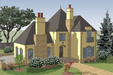 Maison de Ville French Country House Plan