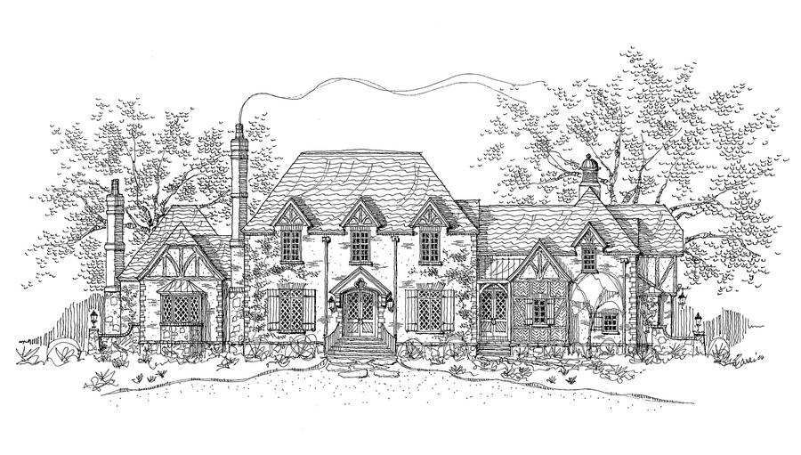 New south classics the manor house for English country manor house plans
