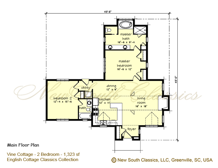 2 Bedroom Bungalow Floor Plans: New South Classics: Vine Cottage (NEW
