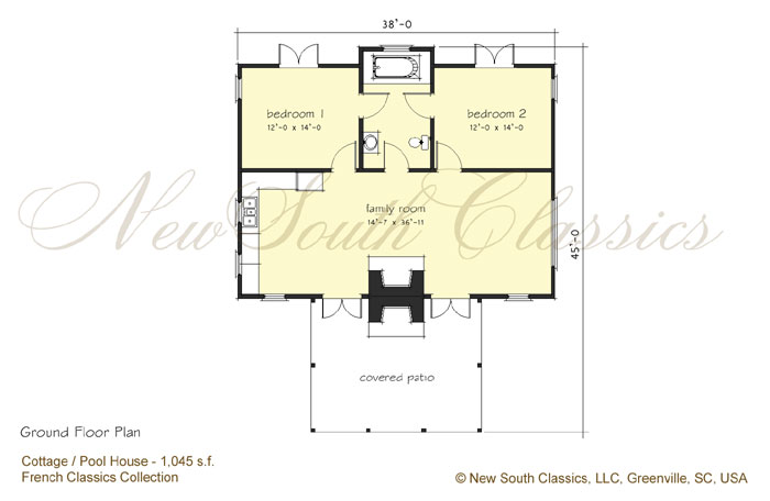 New south classics guest cottage new for Garage guest house plans