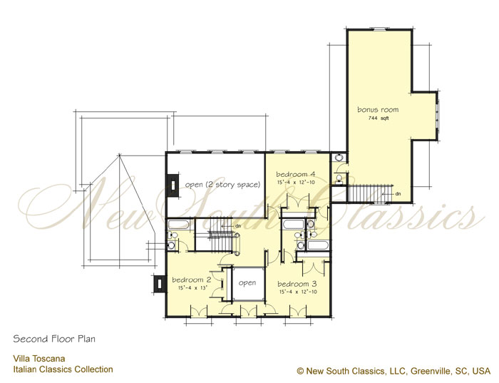 New south classics villa toscana for Garage with bedroom above plans